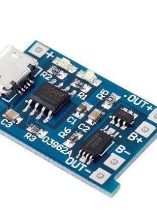 USB зарядное устройство для литиевых батарей TP4056 microUSB