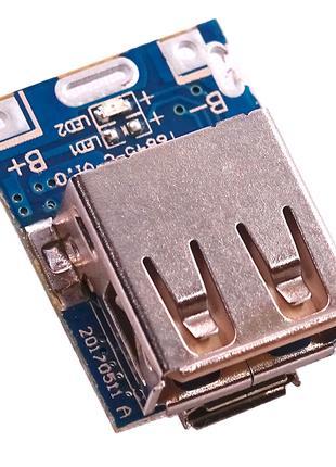 Мини-модуль питания-зарядки от 18650 с USB-microUSB 1А