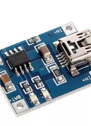 Модуль зарядки Li-Ion аккумуляторов с USBmini на TP4056 M294