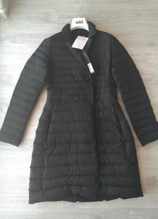 100% пух. новый. пуховик add приталенное пальто/куртка it48 (4...