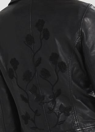 Тренд.100% кожа. куртка-косуха с вышивкой one more story, герм...
