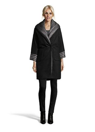 Новое пальто на пуху add, it46(наш 46-48 пух/шерсть зима высок...