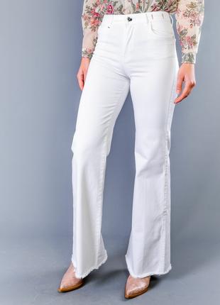 Тренд. новые джинсы twin-set (р.27) белые широкие брюки wide leg