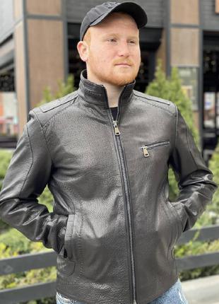 Стильная классическая мужская куртка с натуральной кожи!