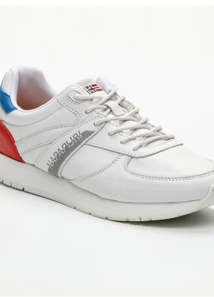 Новые белые кроссовки napapijri италия 100% кожа