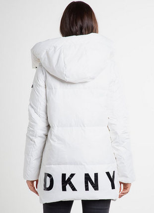 Новый пуховик одеяло dkny (парка, куртка) 90% пух оригинал тра...