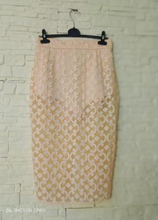 Эксклюзивная прозрачная юбка-карандаш с шортами