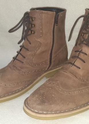 Кожанные ботинки оксфорды soft grey p.43