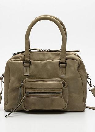Шикарная сумка из кожи (спилк) beck söndergaard, дания