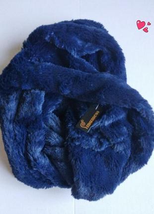 Пушистый снуд ,шарф ,шарфик меховой, стильный аксессуар