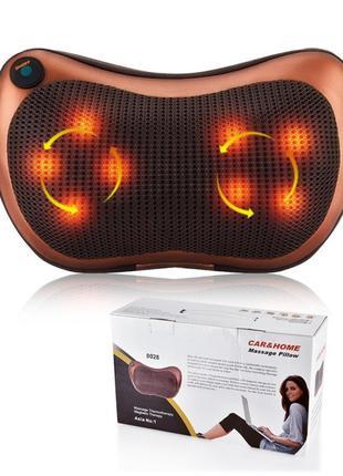 Массажная подушка для дома и машины Massage pillow на 8 роликов