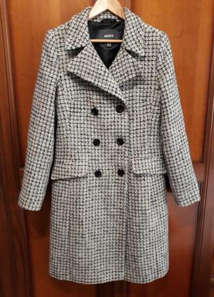 Mexx новое#брендовое#демисезонное полу шерстяное пальто в клет...