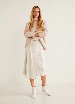 Распродажа: струящаяся юбка миди на запáх жемчужная с отливом ...