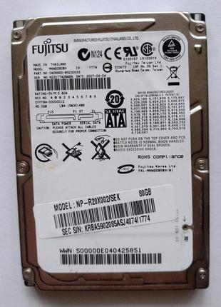 """405 HDD Fujitsu 80 GB SATA 2.5"""" 5400 rpm 8 MB - MHW2080BH - ПР..."""
