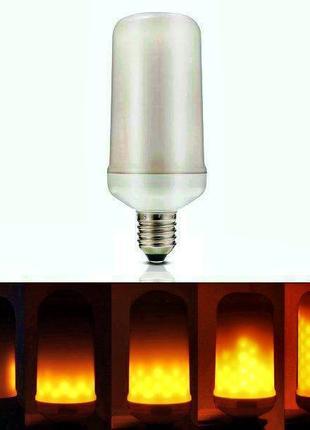 Декоративная светодиодная лампа живой огонь FIREFLUX 5W E27 220v