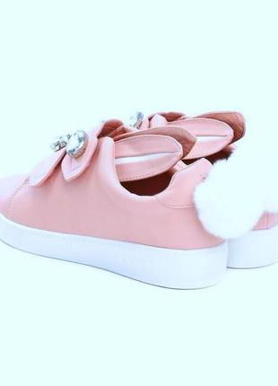 Милые  зайчики кеды кроссовки туфли на липучках р.36-37