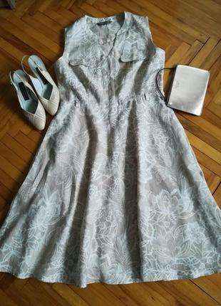 Натуральное льняное платье в цветочный принт laura ashley