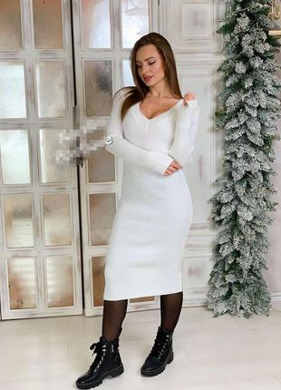 Миди платье по фигуре, платье рубчик, платье резинка, платье г...