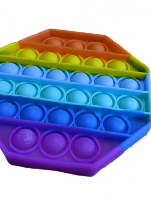 Мягкая игрушка Поп ит Бесконечная пупырка антистресс восьмиугольн