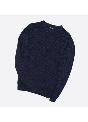 Cedarwood state m-l / мужской вязаный тёмно-синий с чёрным свитер