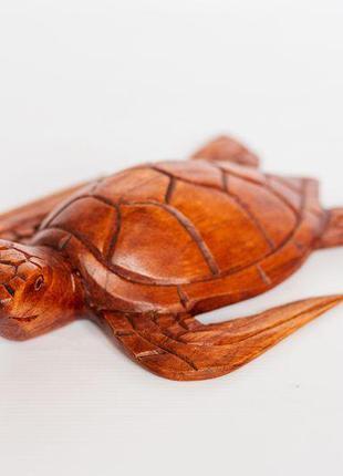 Статуэтка Черепаха BST 25 см из дерева суар 530612