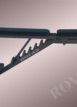 Силовая скамья для жима лежа регулируемая Rovan черная