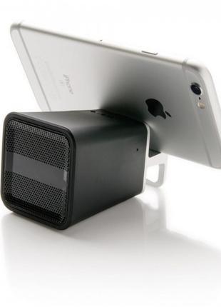 Колонка подставка под телефон портативная Bluetooth 3 в 1 черн...