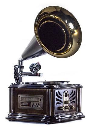 Граммофон проигрыватель винила 37x75x37 см. дуб BST 410849