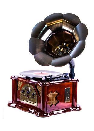 Проигрыватель виниловых пластинок граммофон ретро 43,3х65х45,7...