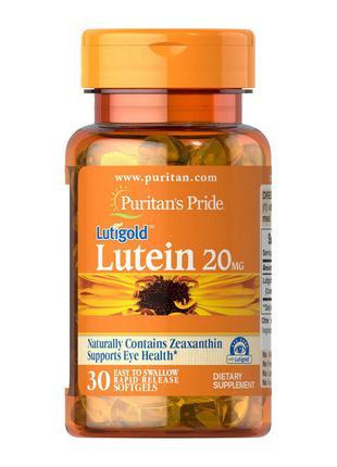 Лютеин Puritan's Pride Lutein 20 mg 30 softgels