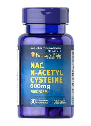 Ацетилцистеин Puritan's Pride NAC N-Acetyl Cysteine 30 caps