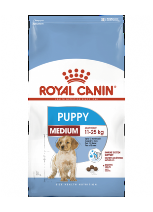 Корм для собак Royal Canin Medium Puppy, 15 кг.