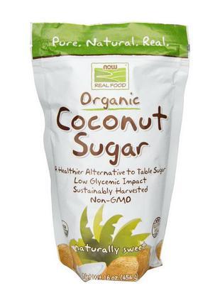 Кокосовый сахар NOW Coconut Sugar 454 g