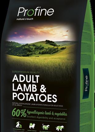Корм для собак Profine Adult Lamb&Potatoes ,15 кг.
