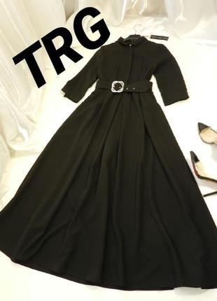 ✅ платье пышное длинное с поясом и карманами