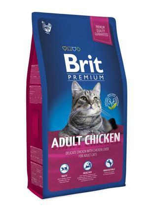 Корм для кошек Brit Premium Cat Adult Chicken,8 кг