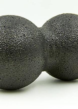 Массажный мячик двойной EPP 16х8 см черный