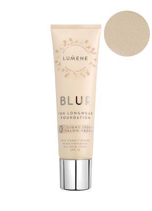 Lumene Longwear Blur Foundation SPF15 Тон.основа cтойкая 0