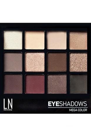 "Палетка теней для глаз ""LN Professional"" Mega Color Eyeshadows..."