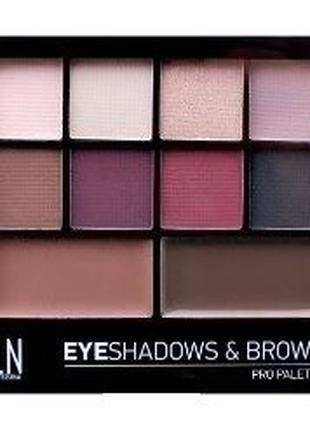 Набор для глаз и бровей, тени, воск LN Professional Pro Palett...
