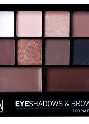 Набор LN Professional Pro Palette тени для век + воск для бров...