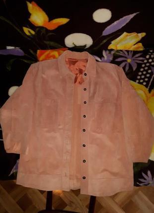 Куртка замшевая женская размер m костюмная свободного покроя в...