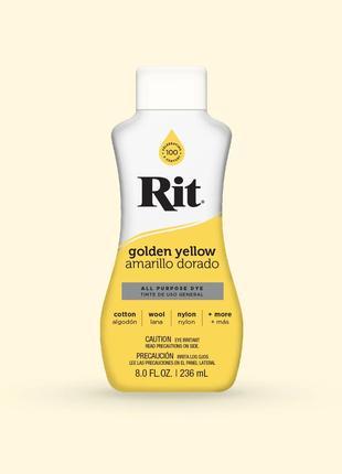 Краситель для одежды Rit Dye, цвет Golden Yellow