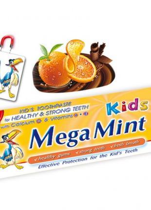 Детская зубная паста Megamint Orange & Chocolate (Апельсин и ш...
