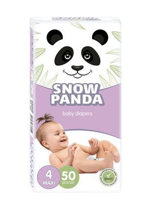 Подгузники Снежная Панда Maxi размер 4 (7-18 кг), 50 шт