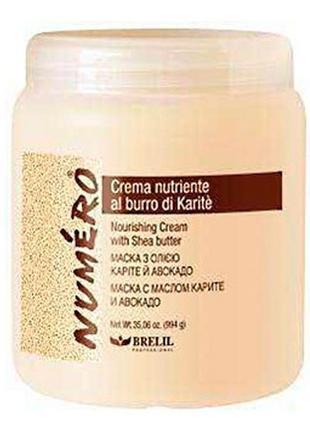 Питательная маска для волос Brelil Numero с маслом карите 1000ml
