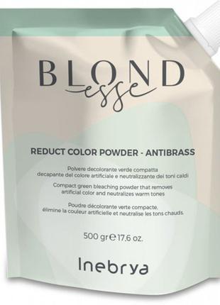 Осветляющая пудра Inebrya Blondesse с зелеными микропигментами...
