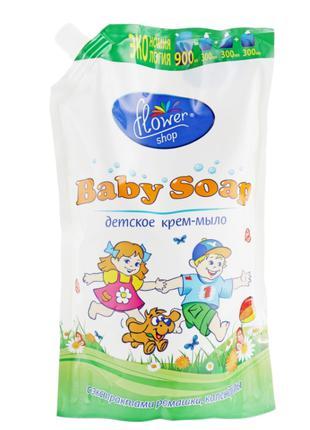 """Крем-мыло для детей Flower Shop """"С экстрактами ромашки и кален..."""