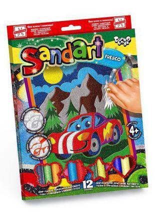 """Фреска из цветного песка """"Sandart"""" Машинка SA-02-03"""