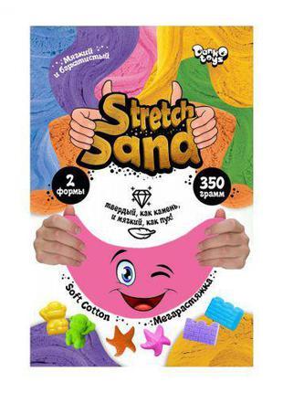 """Кинетический песок """"Stretch Sand"""" рус 350 г розовый STS-04-02"""